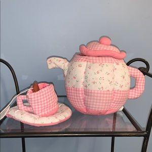 Lillian Vernon Plush Tea Set